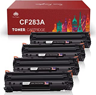 Toner Kingdom Compatible Toner Cartridges Replacement for HP 83A CF283A Work with HP LaserJet Pro MFP M125a M125nw M127fw M127fn M201n M201dw M225dn M225dw Printer(Black, 4-Pack)