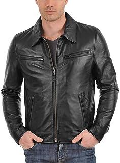 جاكيت Laverapelle رجالي من جلد الخراف الأصلي (أسود، سترة طيار) - 1501611