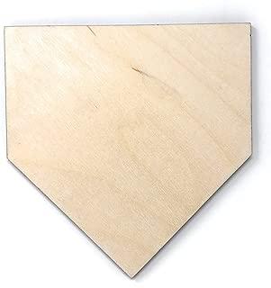 wooden baseball home plate