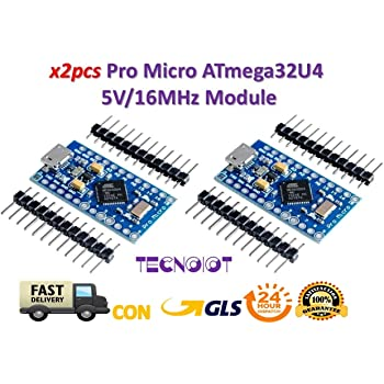 KeeYees Pro Micro ATmega32U4 5V 16MHz Micro USB Placa de Desarrollo Módulo Microcontrolador para Arduino IDE Leonardo Bootloader: Amazon.es: Electrónica