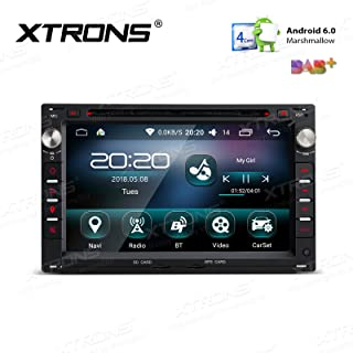 XTRONS 7 Inch Android 6.0 Quad Core 16G ROM Multi-Touch Screen Car Stereo Radio DVD Player Car GPS WiFi Bluetooth Screen Mirroring OBD DVR for VW Golf SEAT SKODA
