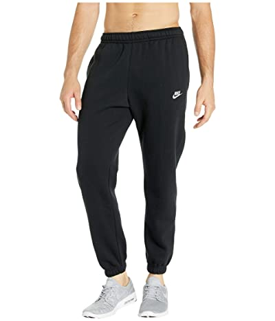 Nike NSW Club Pants Cuffed (Black/Black/White) Men