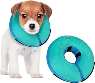 MUKSIRON Recovery Collar for Dogs,Dog Cone After Surgery - Soft Protective Inflatable Pet Recovery Collar and Does not obs...