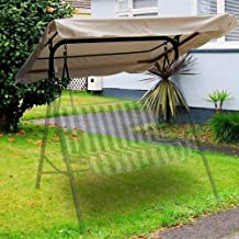 Flexzion Swing Canopy Cover - Deluxe Polyester Top Replacement UV Block Sun Shade Waterproof Decor for Outdoor Garden Pati...
