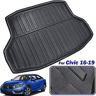 LUVCARPB Cubierta Interior de la Estera del Maletero Interior del Coche, Apta para Honda Civic Sedan 2016-2019 10th Gen, Accesorios Impermeables para alfombras de Coche