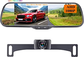 "$69 » Rohent N01 AHD 1080P Backup Camera with 5"" Mirror Monitor 2021 New Chips Two Video Channels Driving Hitch Rear/Front View ..."