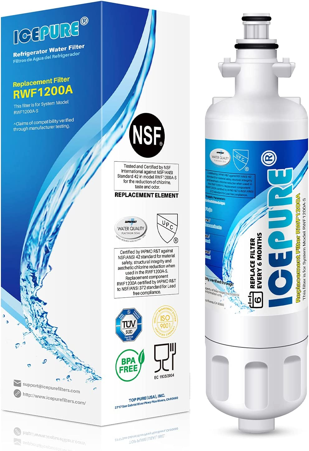 ICEPURE Refrigerator Water Filter OFFicial mail order with Compatible 9690 Japan Maker New Kenmore