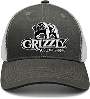Men Women Adjustable Grizzly-Logo- Trucker Dad Baseball Hats Cap