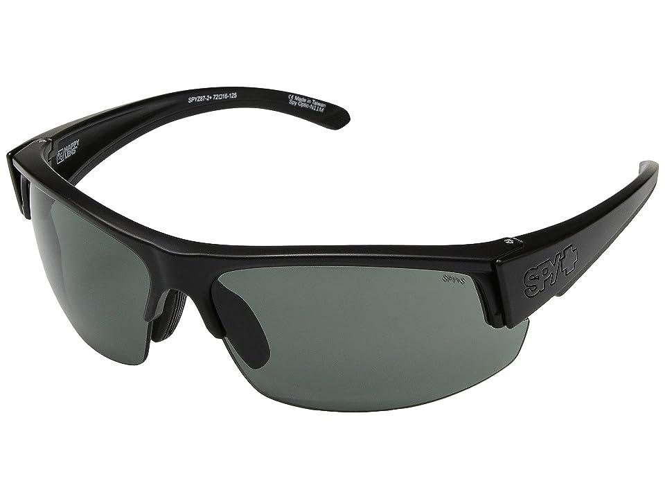 Spy Optic Sprinter (Matte Black Ansi RX/Happy Gray Green) Athletic Performance Sport Sunglasses