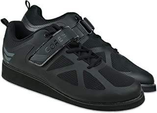 Core Weightlifting Shoes - Non-Slip Squat Shoes for Powerlifting, Deadlifting, Weight Training - Velcro Strap and Lace-Up ...
