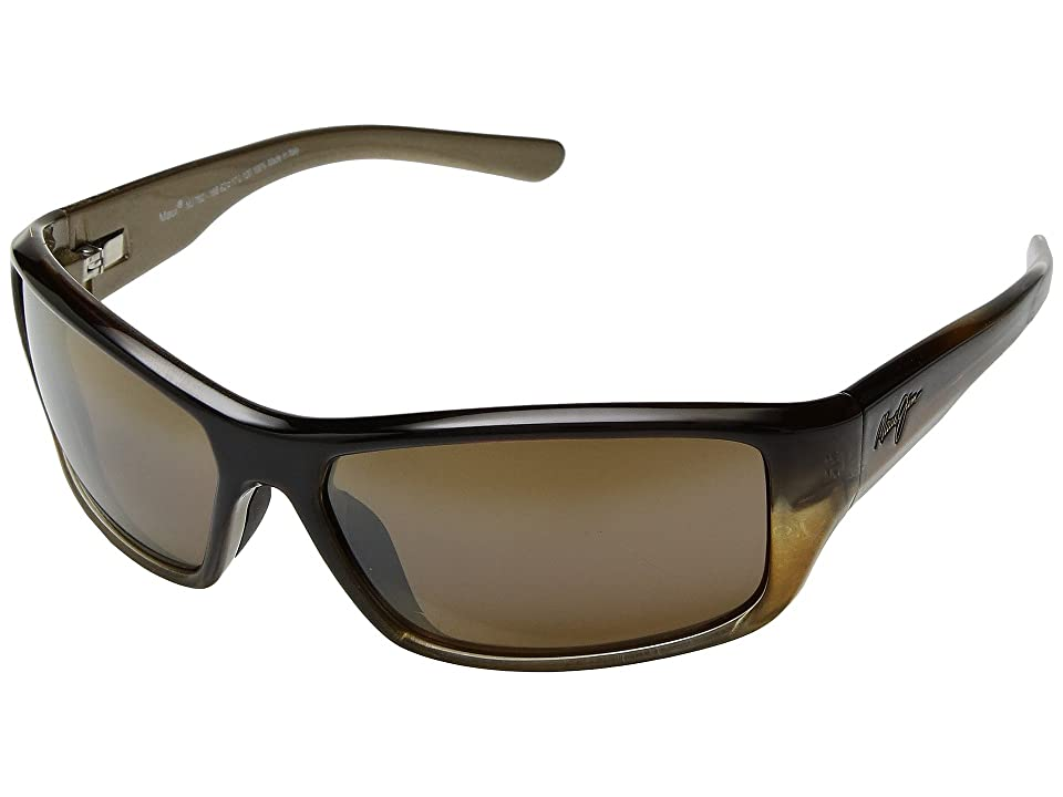 Maui Jim Barrier Reef (Brown/Gold/HCL Bronze) Athletic Performance Sport Sunglasses