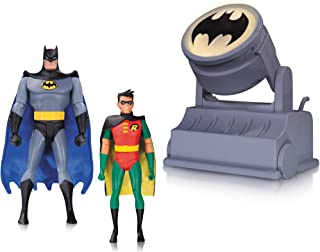 DC Collectibles Batman The Animated Series Batman & Robin Action Figure with Bat-Signal (2 Pack)