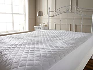 Rhome Home Quilted Polyester Waterproof Mattress Protector (White)