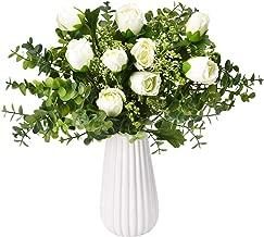 white roses and gypsophila wedding bouquet