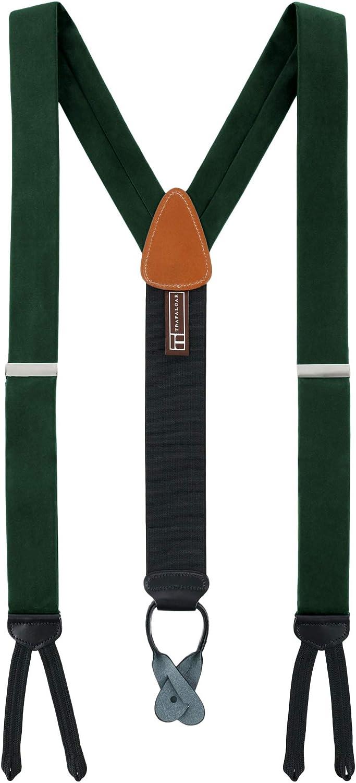 Trafalgar Men's Kington Silk Formal Braces (Suspenders)