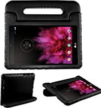 SIMPLEWAY LG G Pad X 8.0 Kids Case, Only Fit AT&T V520 / T-Mobile V521 Tablet, Carry Handle Child Stand Holder Shockproof Protective Cover Case Compatible with LG 8 Inch G Pad, Black
