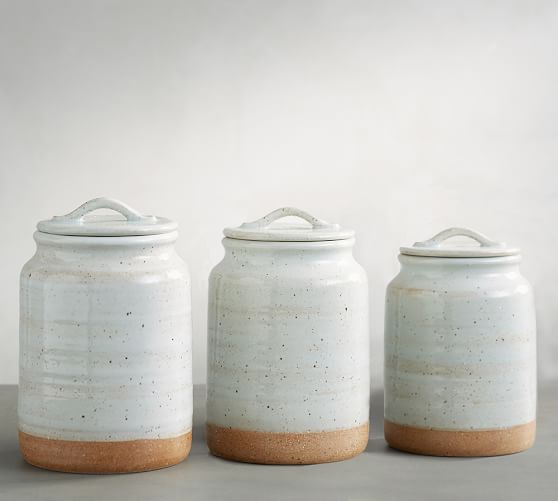 Portland Canisters, Set of 3 | Pottery Barn