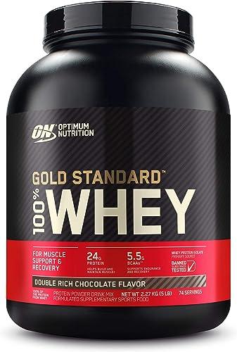 Optimum Nutrition Gold Standard 100% Whey Double Rich Chocolate Protein Powder 2.27kg