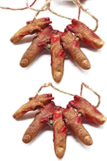 Bloody Zombie Fingers, Realistic Severed Fingers Scary Creepy Prank Props Toy for Halloween Party Horror Night Decoration ...