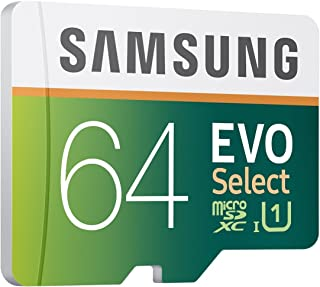 Samsung 64GB EVO Select Micro SDXC Memory Card Class 10 Speed Up To 80MB/s Read 20MB/s Write