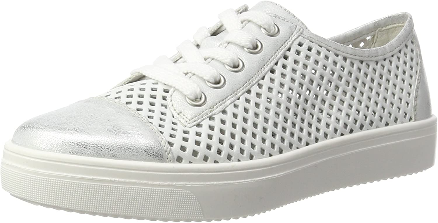 Remonte Women's R7804 Low-Top Sneakers, White, 5 UK