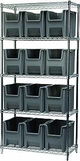 Akro-Mils AWS183613014GRY Chrome Wire Bin Shelving System with 5 Shelves,36x18x74, 12 13014 Blue Grey