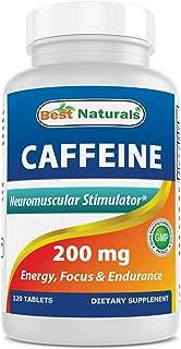 Best Naturals Caffeine Pills 200mg, 120 Count