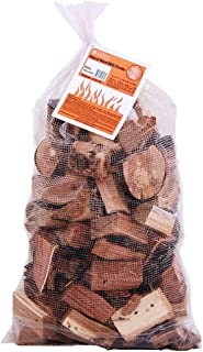 Camerons Products Smoking Wood Chunks (Hickory) 840 cu. in. (0.013m³)- Kiln Dried BBQ Large Cut Chips- All Natural Barbe...