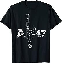 AK47 Gun Silhouette Illustration TShirt, AK-47 Gun Art Gift