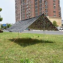 Nicoone Outdoor Yard Draagbare Zon Onderdak Picknick Hangmat Luifel Tent Camouflage 400*300 cm