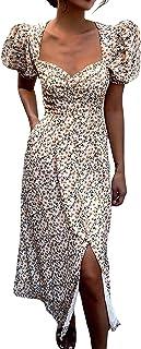 Vestido de verano con estampado floral para mujer, estilo bohemio, estilo bohemio, para playa, fiesta, Y2k