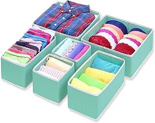 Home Style India Houseware Foldable Cloth Storage Box Closet Dresser Drawer Divider Organizer Basket Bins for Underwear Br...