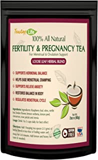 Red Raspberry Leaf Tea with Vitex Chasteberry, Fertility Pregnancy Greens Herbs Tea for Women, Loose Leaf Blend - 60 Grams| Made in USA
