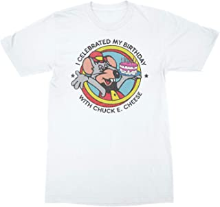 Chuck E. Cheese Pizza Theatre Chuck E. Cheese's Birthday White Adult T-Shirt Tee