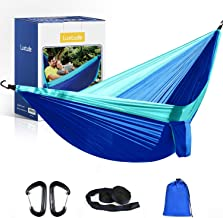 Luxtude Camping Hammock, 2 Person Portable Hammock Travel Hammock for Trees, Lightweight Parachute Double Hammock with 2 T...