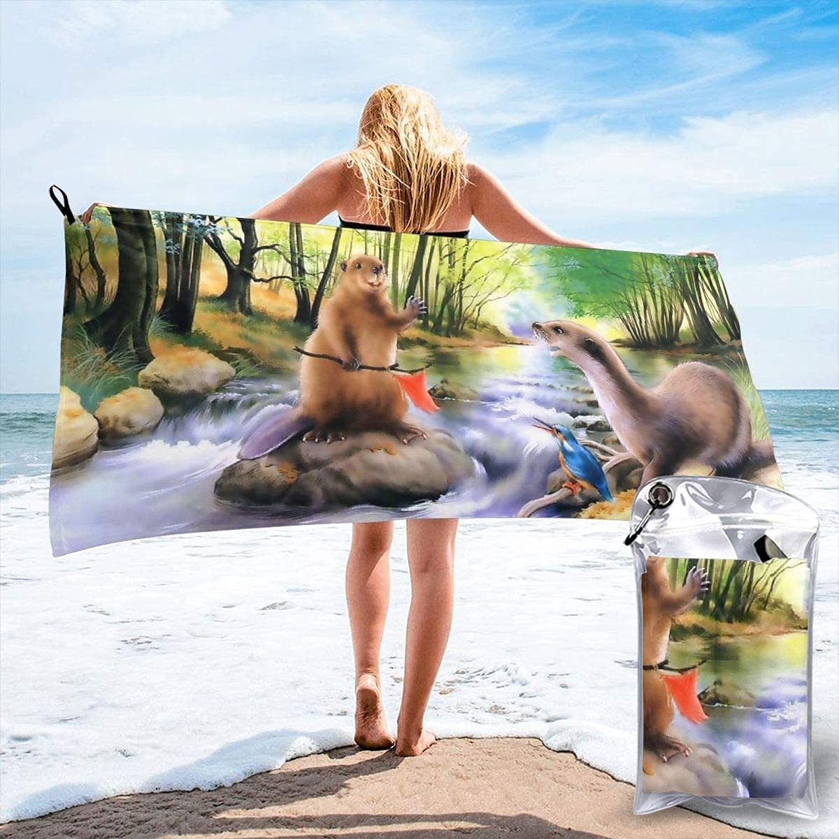 Bison Buffalo Microfiber Beach High order Towel Drying Quick Absorbe New Free Shipping Super