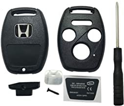 DIY Remodel Uncut Flip Folding Remote Key Shell Case For 2003 2004 2005 2006 2008 2009 2010 Honda Accord 3+Panic Buttons