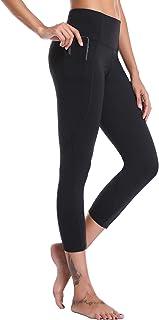 Women's Yoga Capris Power Flex Running Pants Workout...