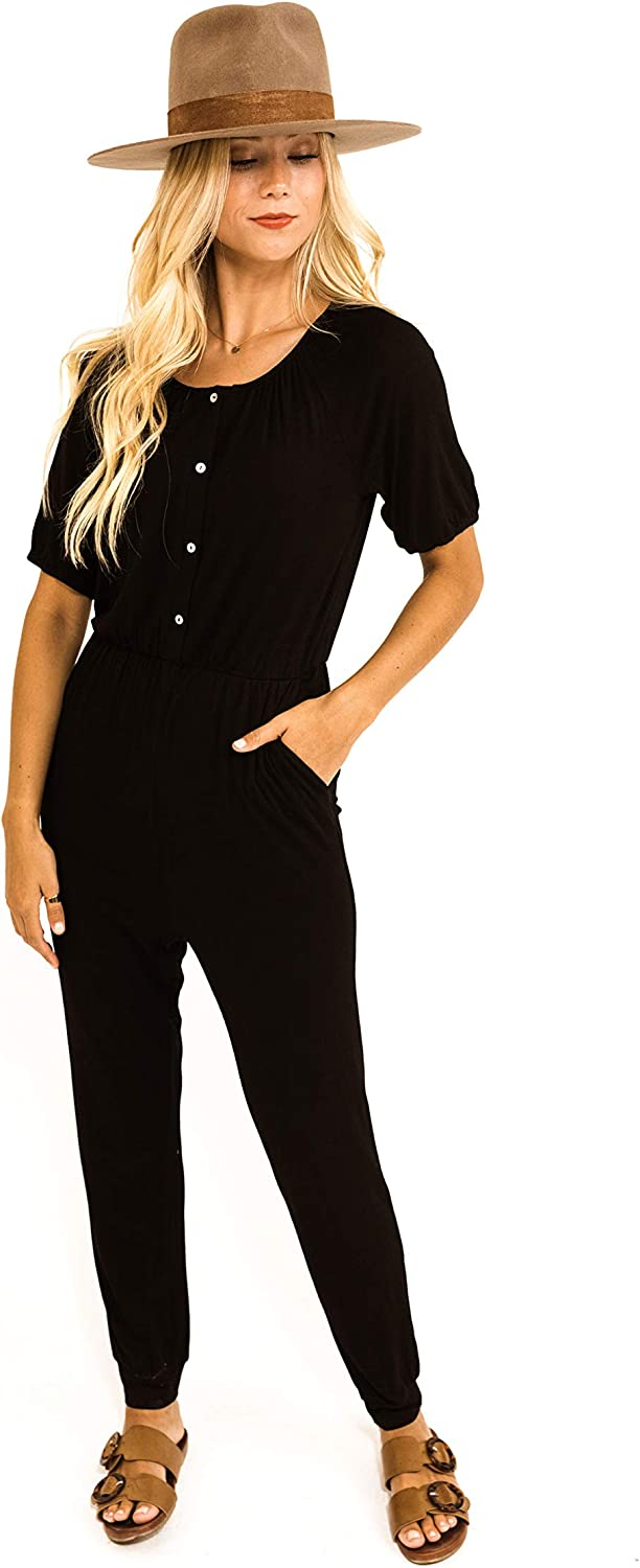 Roolee Go Los Angeles Mall for Broke Jumper Solid Women Jumpsuits But Black New mail order