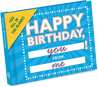 Knock Knock Happy Birthday to You Fill in the Love Book Fill-in-the-Blank Gift Journal, 4.5 x 3.25-inches