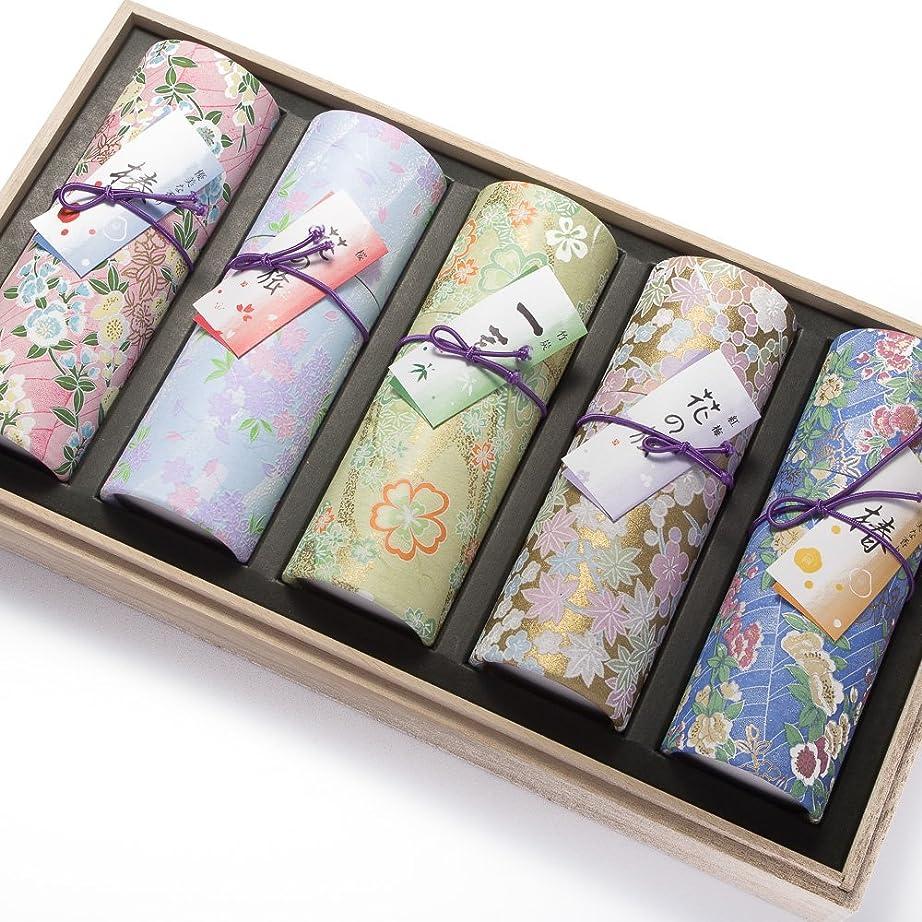 増幅する中国円形の奥野晴明堂 お線香 花くらべ5種セット 桐箱入り