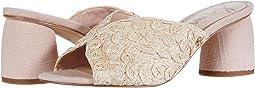 Seashell Pink Lattice Woven Raffia