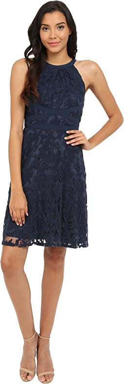 Filigree Lace Fit & Flare Dress