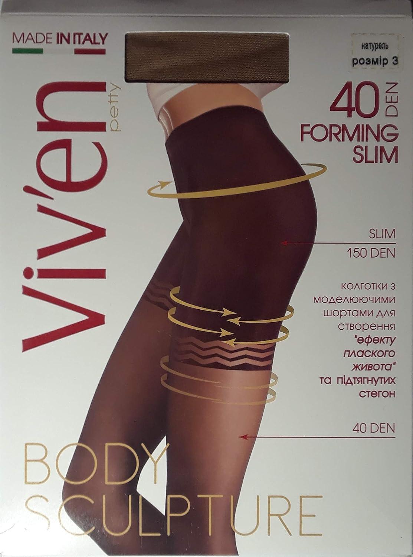 Viv'en petty Forming Slim Tights 40 Den Body Sculpture Made in Italy, EU