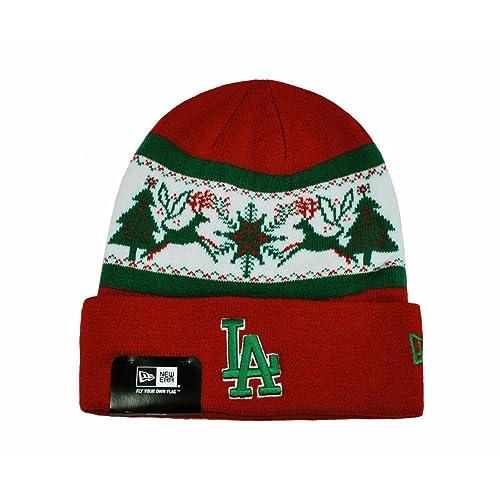 6df4dd2fcf4 NEW ERA Mlb La Knit Fillz Los Angeles Dodgers Beanie Christmas Red Headwear  HAT