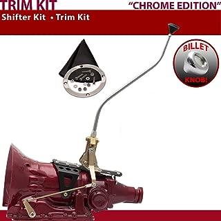 American Shifter 529128 Shifter (45RFE 23 Swan Trim Kit CHR Push Button BLK Boot Billet Knob for F5558)