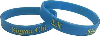 Sigma Chi Fraternity Blue Silicone Bracelet (SG) Sig Chi
