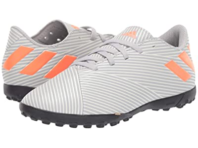 adidas Kids Nemeziz 19.4 TF Soccer (Little Kid/Big Kid) (Grey/Solar Orange/Chalk White) Kids Shoes