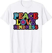 HIPPIE Shirt PEACE LOVE KINDNESS Tie Dye Halloween Costume