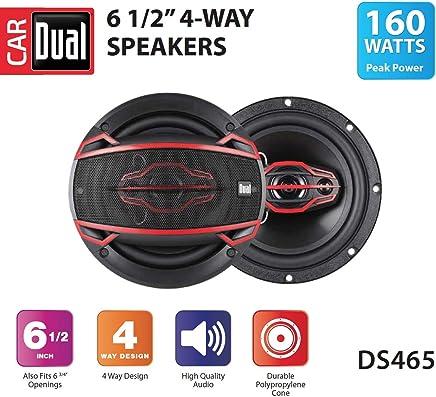 $21 » Dual DS465 4-Way 6 ½ inch Car Speakers with 160-Watt Power & 35mm Mylar Balanced Dome Midrange